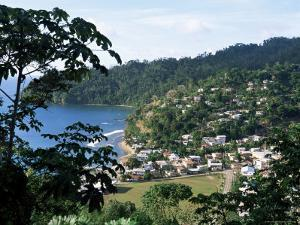 Elevated View Over the Fishing Village of Charlotteville, Tobago, West Indies, Caribbean by Yadid Levy