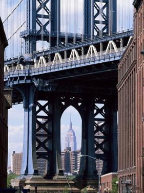 Empire State Building Seen Through the Manhattan Bridge, Brooklyn, New York, New York State, USA by Yadid Levy