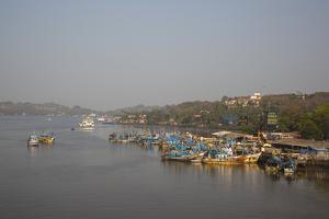 Fishing Harbour at Panjim, Goa, India, Asia by Yadid Levy