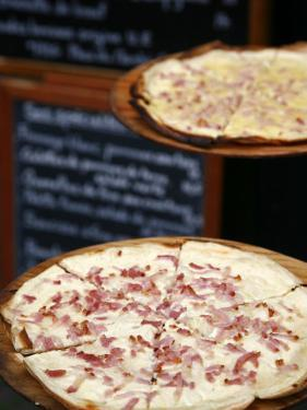 Flammekuche also known as Tarte Flambe, Strasbourg, Alsace, France by Yadid Levy