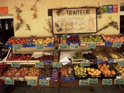 Fruit Displayed Outside Shop, Calvi, Corsica, France