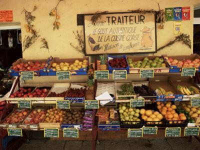 Fruit Displayed Outside Shop, Calvi, Corsica, France by Yadid Levy