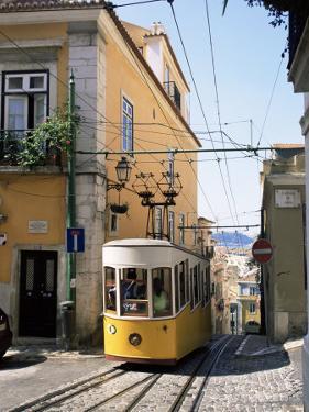 Funicular at Elevador Da Bica, Lisbon, Portugal by Yadid Levy