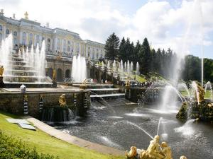 Grand Cascade at Peterhof Palace (Petrodvorets), St. Petersburg, Russia, Europe by Yadid Levy