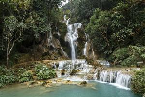 Kuang Si Waterfall, Luang Prabang, Laos, Indochina, Southeast Asia, Asia by Yadid Levy