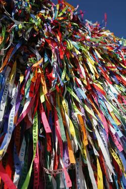 Lucky Ribbons Tied at Igreja Nosso Senhor do Bonfim Church, Salvador (Salvador de Bahia), Brazil by Yadid Levy