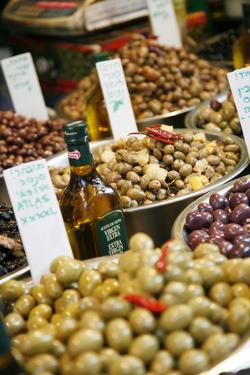 Olives Stall, Shuk Hacarmel (Carmel Market), Tel Aviv, Israel, Middle East by Yadid Levy