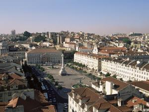 Rossio Square (Dom Pedro Iv Square), Lisbon, Portugal, Europe by Yadid Levy