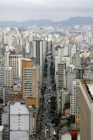 Skyline of Sao Paulo, Brazil, South America by Yadid Levy