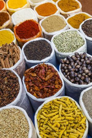 Spice Shop at the Wednesday Flea Market in Anjuna, Goa, India, Asia by Yadid Levy