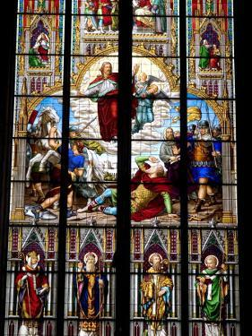 Stained Glass Windows in Cologne Cathedral, Cologne, North Rhine Westphalia, Germany by Yadid Levy