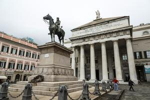 Statue of Giuseppe Garibaldi in Front of the Theatre Carlo Felice by Yadid Levy