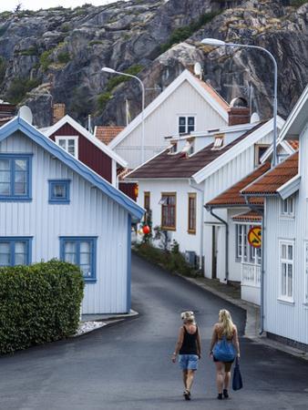 Street Scene in Fjallbacka, Bohuslan Region, West Coast, Sweden, Scandinavia, Europe by Yadid Levy