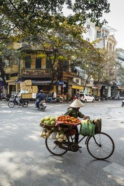 Street Scene in the Old Quarter, Hanoi, Vietnam, Indochina, Southeast Asia, Asia by Yadid Levy
