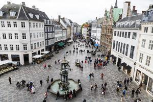 Stroget, the Main Pedestrian Shopping Street, Copenhagen, Denmark, Scandinavia, Europe by Yadid Levy