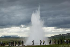 Strokkur Geyser, Geysir, Golden Circle, Iceland, Polar Regions by Yadid Levy