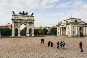 The Arch of Peace (Arco Della Pace), Sempione Park, Milan, Lombardy, Italy, Europe by Yadid Levy