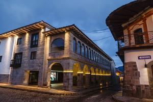 The Exterior of the Jw Marriott Hotel Which Is an Old Restored Convent, Cuzco, Peru, South America by Yadid Levy