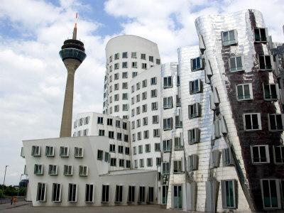The Neuer Zollhof Building by Frank Gehry at the Medienhafen, Dusseldorf, North Rhine Westphalia