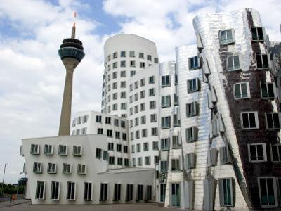 The Neuer Zollhof Building by Frank Gehry at the Medienhafen, Dusseldorf, North Rhine Westphalia by Yadid Levy