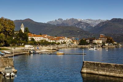 View over Baveno Town, Lake Maggiore, Italian Lakes, Piedmont, Italy, Europe