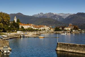 View over Baveno Town, Lake Maggiore, Italian Lakes, Piedmont, Italy, Europe by Yadid Levy