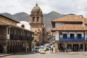View over Convento Y Templo La Merced Church, Cuzco, Peru, South America by Yadid Levy