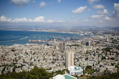 View over the City and Port, Haifa, Israel, Middle East by Yadid Levy