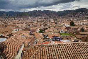 View over the Rooftops of Cuzco from San Blas Neighbourhood, Cuzco, Peru, South America by Yadid Levy