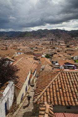View over the Rooftops of Cuzco from San Blas Neighbourhood, Peru, South America by Yadid Levy