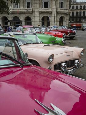 Vintage American Cars, Havana, Cuba, West Indies, Caribbean, Central America by Yadid Levy
