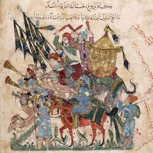 Caravan of Pilgrims in Ramleh (From a Manuscript of Maqâmât of Al-Harîr), 1237 by Yahya ibn Mahmud Al-Wasiti