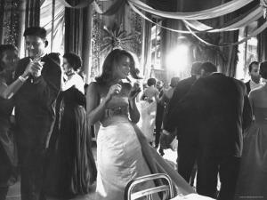 Actress Jane Fonda Dancing Amidst Others of the Nation's Elite at Society Gala Ball by Yale Joel