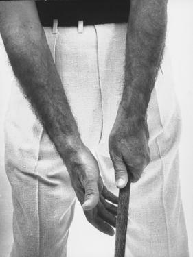 Ben Hogan, Close Up of Hands Grasping Club by Yale Joel