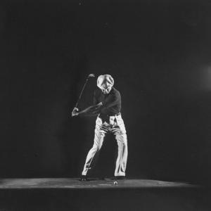Ben Hogan, Posed in Action Swinging Club by Yale Joel