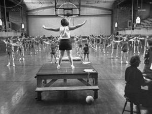 Calisthenics in the Davenport High School Gym by Yale Joel