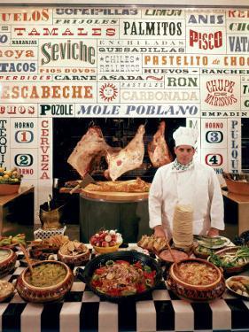 Chef and Food at the La Fonda Del Sol Restaurant by Yale Joel