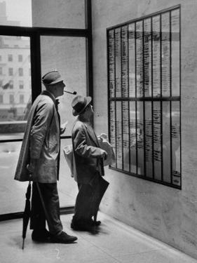 French Actor Jacques Tati Looking at the Names of a Building by Yale Joel