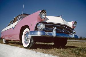 Low-Angle View of a 1954 Ford Fairlane Automobile by Yale Joel