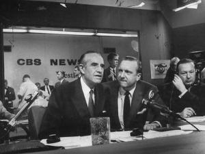Walter Cronkite and Averell Harriman, Cbs News Coverage for the Democratic National Convention by Yale Joel
