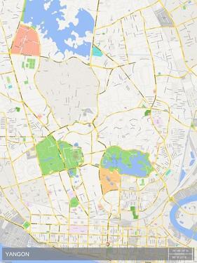 Yangon, Myanmar Map