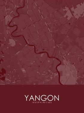 Yangon, Myanmar Red Map