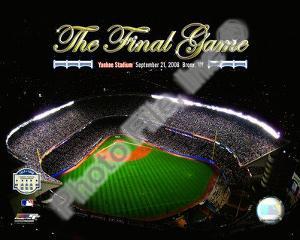 Yankee Stadium Aerial The Final Game 2008