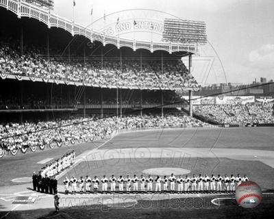 Yankee Stadium Left Field - 1955 World Series Opening Game