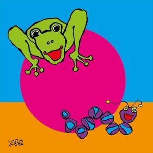 Frog and Caterpillar by Yaro
