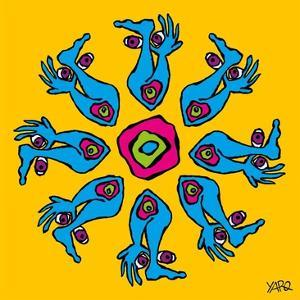 Hands and Feet Mandala by Yaro