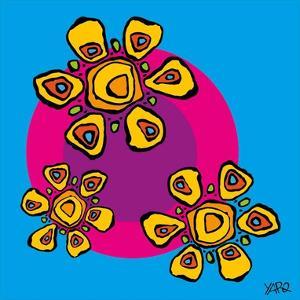 Three Flowers by Yaro
