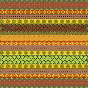Bright Aztec Pattern by Yaroslavna