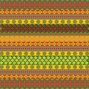 Bright Aztec Pattern by Yaroslavna