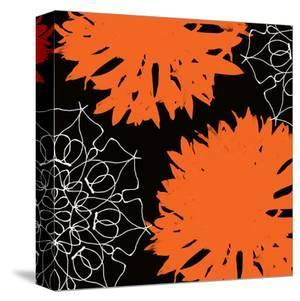 Vibrant orange floral by Yashna